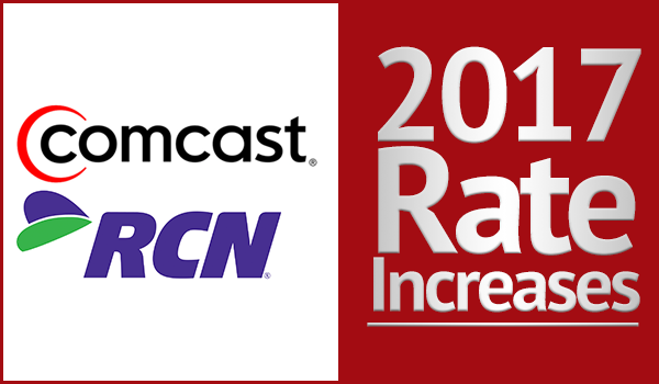 Comcast RCN rate increases