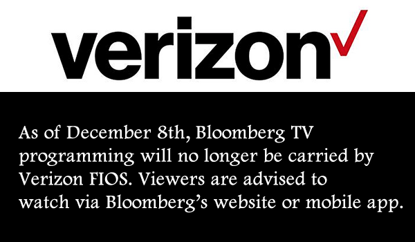 No more Bloomberg on FIOS