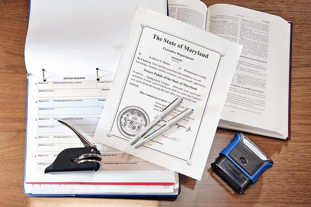 Pictures of notary public tools
