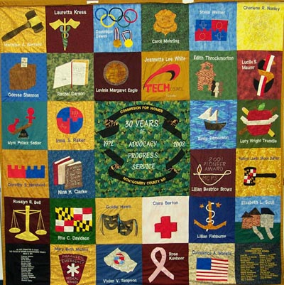 Commission for Women Montgomery County Women's History Quilt : history of american quilts - Adamdwight.com