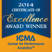 2014 Certificate of Excellence Award Winner: ICMA Center for Performance Measurement (tm)