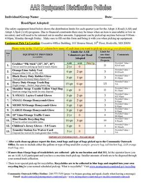 Equipment Distribution Cover