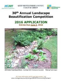 Cover of the Annual Landscape Contest Application