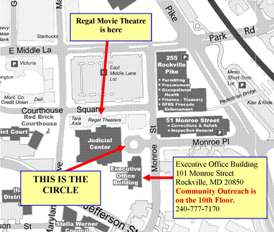 Map of downtown Rockville