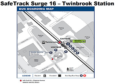 Twinbrook Metro station during SafeTrack Surge 16