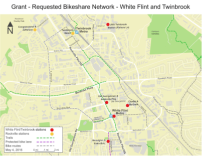bikeshare stations at white flint and twinbrook