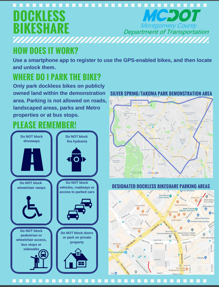 Dockless Bikeshare Informational Flyer