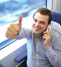 man giving thumbs-up sign