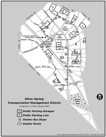 Silver Spring Transportation Management District Map