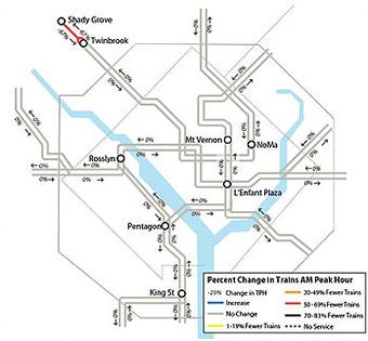 Metro track work Aug 9-18