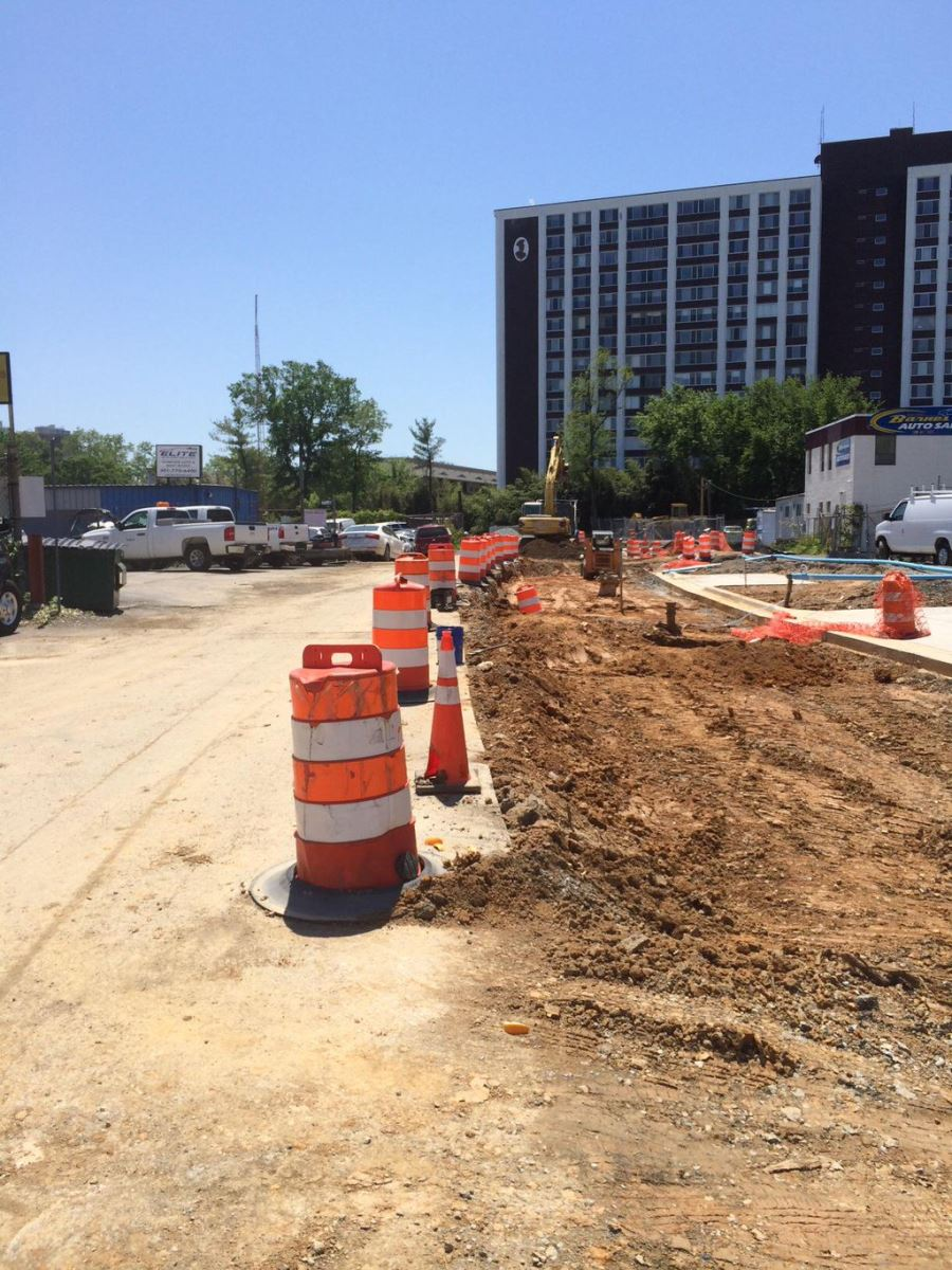Chapman Avenue roadway construction underway