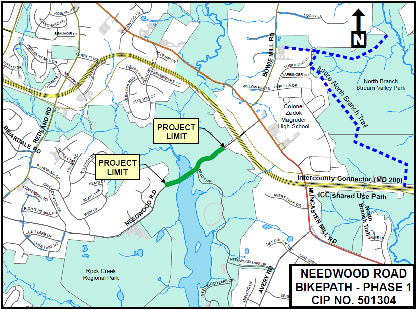 Needwood Road Bike Path Phase I