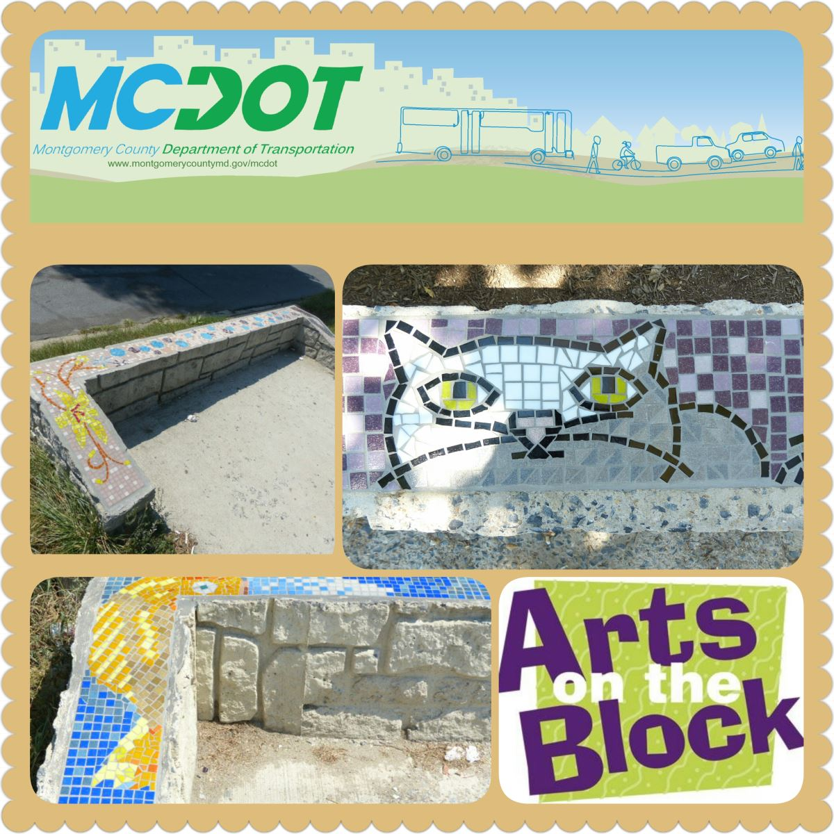 Bus Stop Mosaic Designs
