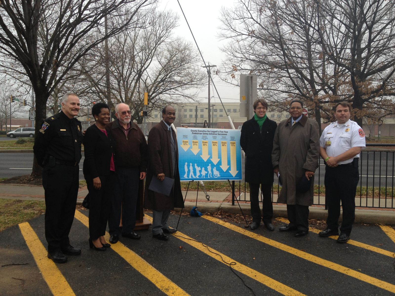 Event to celebrate five-year anniversary of Montgomery County Executive Isiah Leggett's Pedestrian Safety Initiative