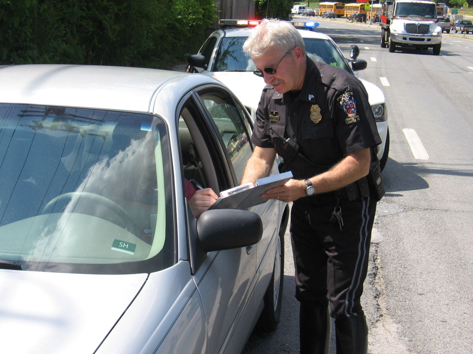 Montgomery County Police are issuing tickets to pedestrians and drivers who break the law