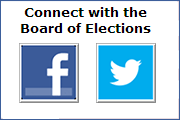 Connect with the Board of Elections.