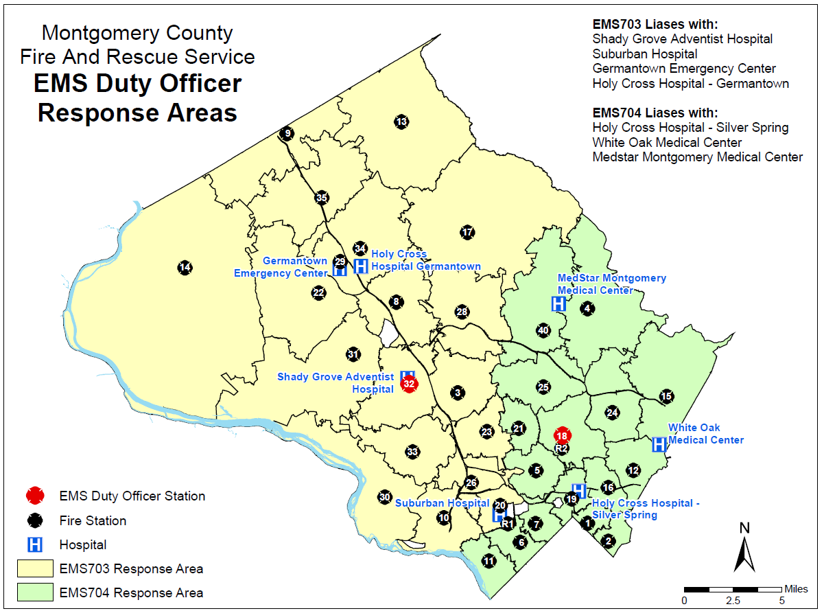 EMS Duty Officer Response Areas