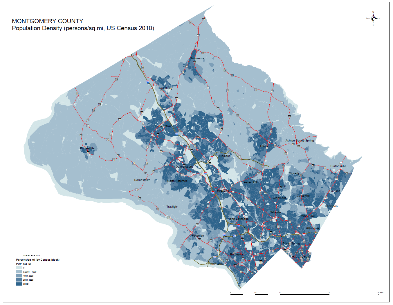Montgomery County GIS Maps Disclaimer - Google map us population density map by county