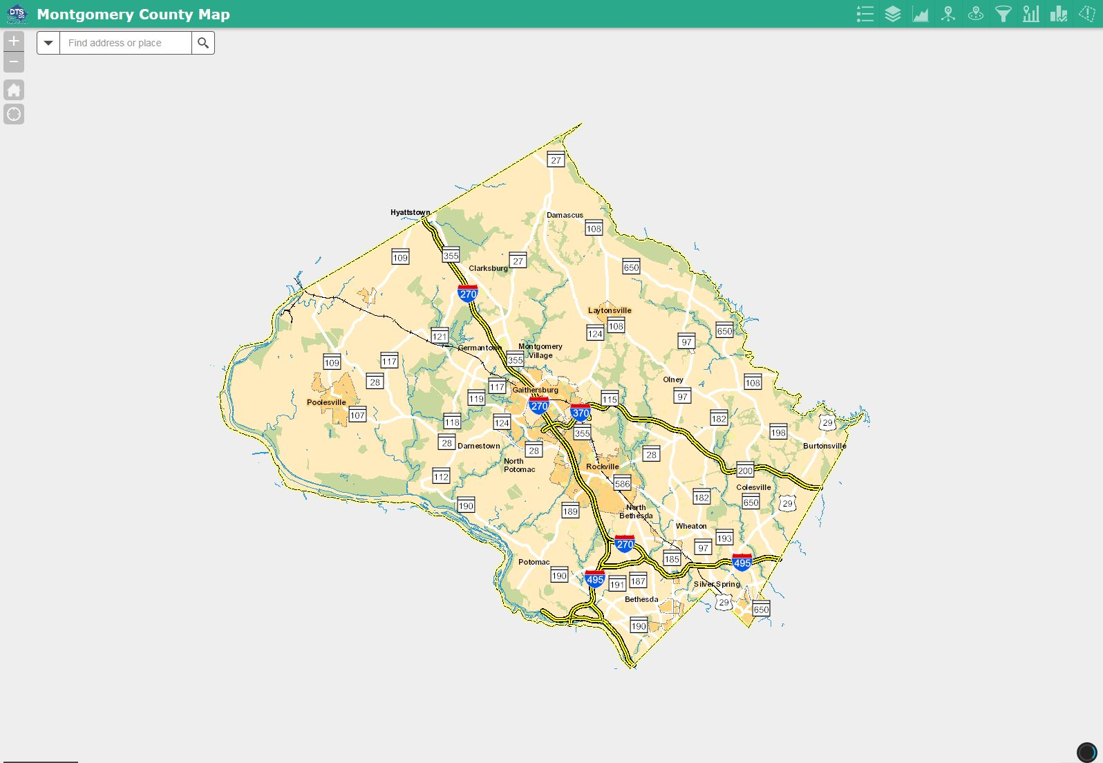 Map Of Montgomery County Md Montgomery County GIS: Maps