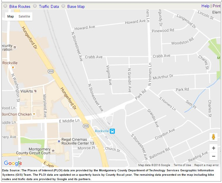 A Map Image for MyMontgomery Map Viewer