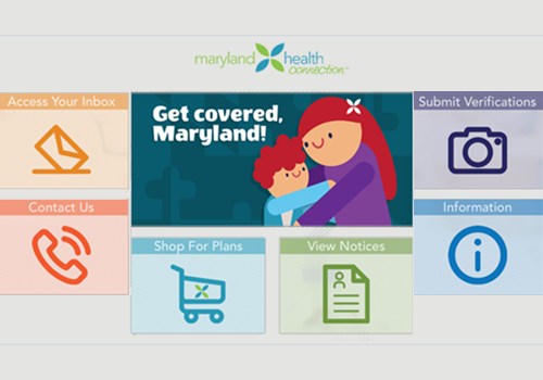 Maryland Health Connection's mobile app