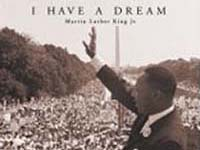 I have a dream - Martin Luther King addressing a crowd in front of the Lincoln Memorial