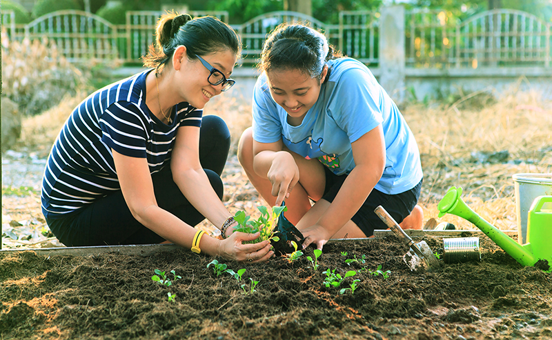 Family gardening. Photo by khunaspix 123RF Stock Photo