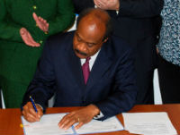 Mr. Leggett signing Executive Order