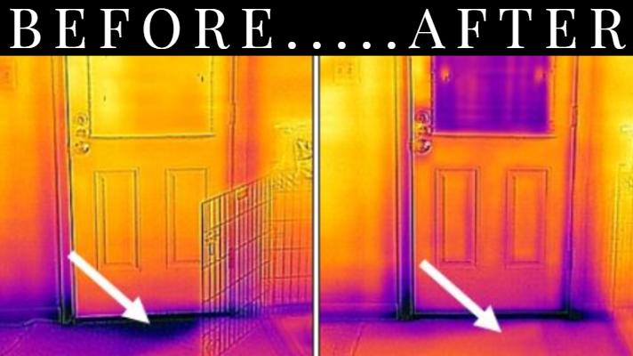 thermal image of door