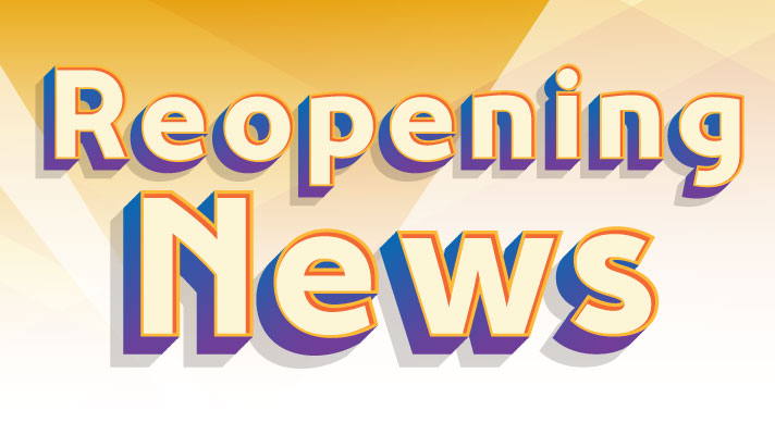 3d text saying reopening news
