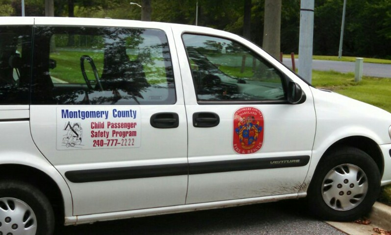 photo of child passenger safety seat program van