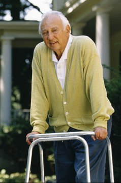 Senior/Disabled man using walker