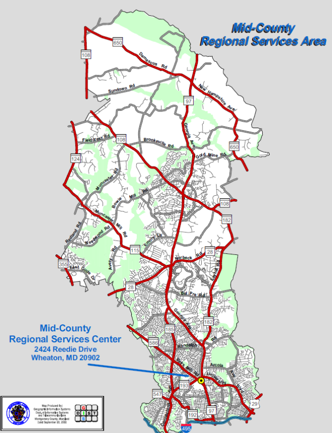 Midcounty Regional Center Boundaries