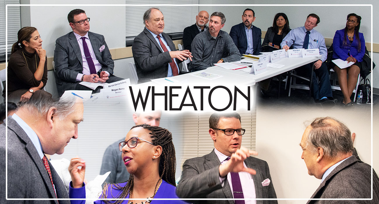 Marc Elrcih meeting with Wheaton Urban Committee