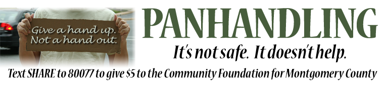 Image of panhandler. Message: Give a hand up. Not a hand out.></p><hr style=