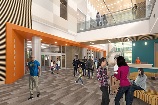 building rendering lobby view 2