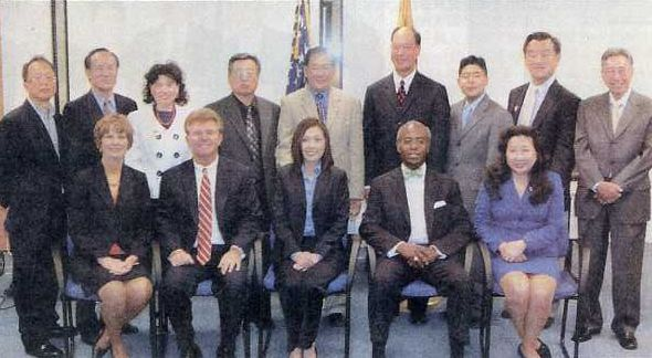 John McCarthy with Asian American leaders