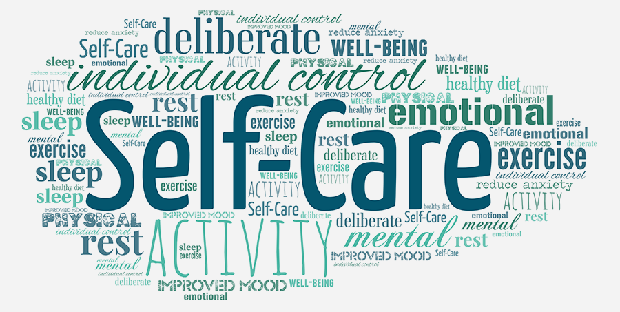 self care word cloud