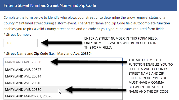 Enter your street address and zip code.