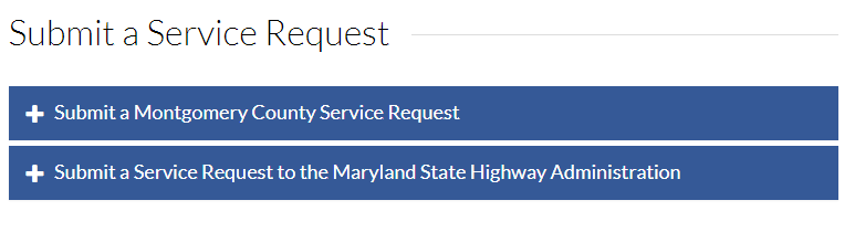 Submit a Service Request to the County or to the State