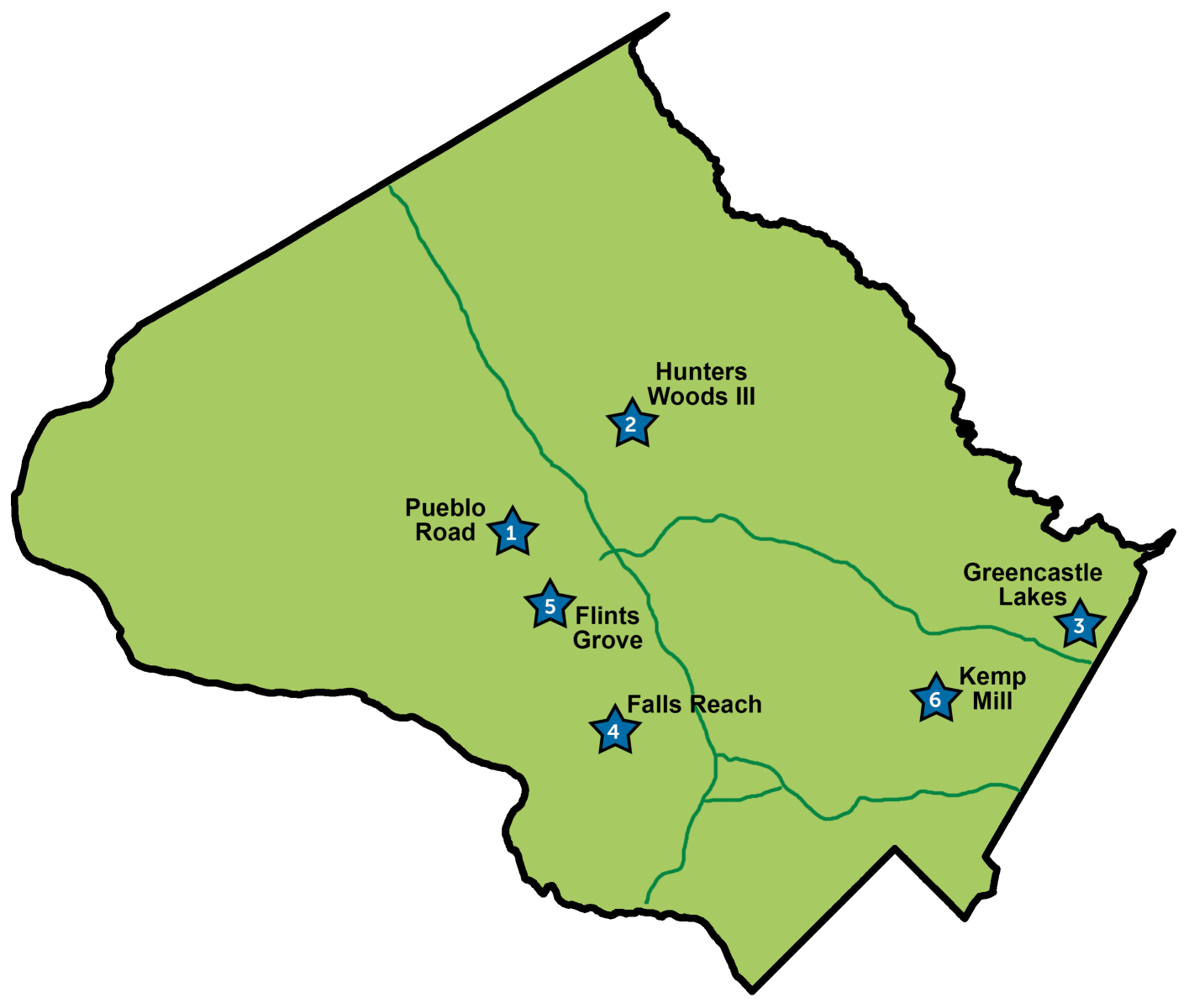 Montgomery County active restoration projects